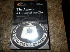 Great Courses: The Agency A History of the CIA - 4 DVD + Course Guidebook - NEW