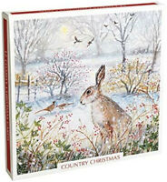 Box of 12 Artistic Christmas Cards Country Christmas by Lucy Grossmith