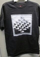 "M.C. Escher Black T-Shirt ""Sky and Water"" Front only / Size medium"