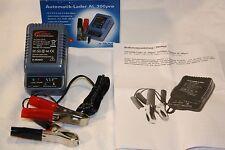 Motorrad / Mofa Ladegerät Steckerlader 6 und 12 Volt auch f. Oldtimer OVP + neu
