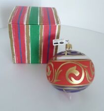 Glass Colorful Hand Painted Christmas Holiday Ornament Made in Italy