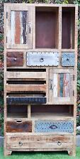 Vintage Timber Retro Display Shelf Filing Cabinet Multi-Drawer Storage