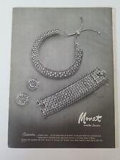 1953 Monet Master jewelry Cassandra beauty of Orient jewelry ad