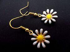 Daisy Themed Dangly Earrings. New. A Pair Cute Little Sunflower