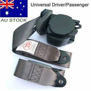 AU Car 3-Point Universal Safety Seat Belt Seatbelt Strap Top Retractor Dark Grey