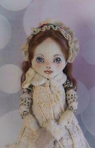 "Winter Hope, a 17.5"" All Cloth OOAK, Little Girl Art Doll by Maryana Darnasskaya"