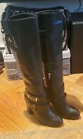 Aldo Black Thick Real Fur Lined Knee High Boots Size 6.5
