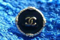 100% Chanel button 1 pieces  cc logo 20 mm 0,8 inch  ❤❤❤