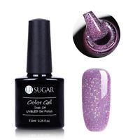 UR SUGAR 7.5ml Lila Regenbogen Holographisch Soak Off UV Gellack Gel Nagellack