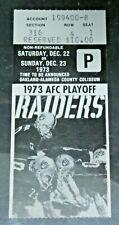 1973 AFC Playoff Football Game Ticket Stub Oakland Raiders