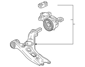 Genuine Honda Arm L Front (Lower) 51360-TLA-A71