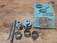 Vintage Enox Hole Cutters No2 & No3 Boxed Plus Bits