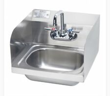 """17"""" Krowne Commercial Kitchen Stainless Wall Mount Hand Sink w/ Side Splashes"""