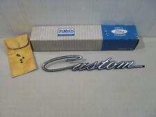 NOS 1967 FORD CUSTOM 500 FRONT FENDER NAMEPLATE (ALUMINUM)... NEW IN FORD BOX!