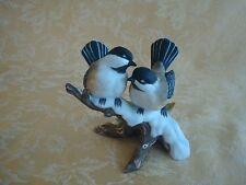 Homco Masterpiece Porcelain Two Chickadees Bird Figurine