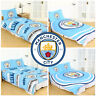 Manchester City FC Man Duvet Cover Football Bed Set Single Double Kids Adults