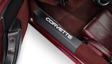 C4 Corvette 1988-1989 Black w/ Raised White Lettering Door Sill Guards