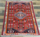 """3'6""""X5' EXCELLENT AUTHENTIC WOOL PICTORIAL FINE TRIBAL RUG SUPERB COLORS"""