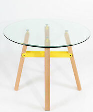 Glass Round Contemporary 60cm-80cm Kitchen & Dining Tables
