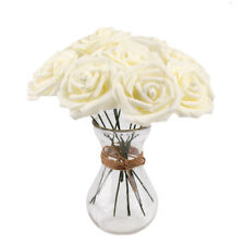 50 Foam Roses Artificial Fake Flowers Heads Wedding Bouquet Party Home Decor DIY