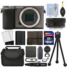 Sony Alpha a6000 Mirrorless Digital Camera with 16-50mm Lens Graphite + 16GB Kit