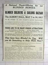 1917 In National Thank Offering For Our Blinded Heroes At The Albert Hall