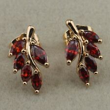 Marvelous Red Garnet Fashion Jewelry Gift Gold Filled Stud Earrings er1317