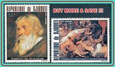 DJIBOUTI 1978 RUBENS PAINTINGS MNH CV$12.50 ANIMALS, HIPPO