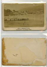 Espagne, Saint-Sébastien La plage CDV vintage albumen carte de visite,  Tirage
