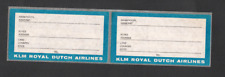 KLM Royal Dutch Airlines Baggage Identification Labels