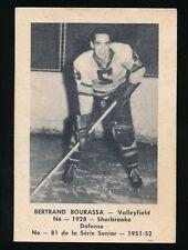 1951-52 Laval Dairy (QSHL) #81 BERTRAND BOURASSA (Valleyfield)