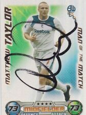 More details for matthew taylor (bolton fc) hand signed 'match attax' man of the match trade card