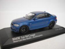 BMW 1 Series M Coupe 2011 Azul Metálico 1/43 Minichamps 410020026 NUEVO