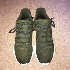 Adidas Tubular Shadow Green Camo & White Running Trainers Men's Size UK 7 VGC