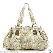 MICHEL KORS COLLECTION  MADE IN ITALY GOLD PYTHON 'REHEARSAL' WOMEN  HAND BAG