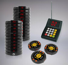20 Digital Restaurant Coaster Pager / Guest Wireless Paging Queuing System POS