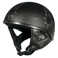 M2R Rebel Shorty Last Stand Open Face Cruiser Helmet Matt Black Size L Large