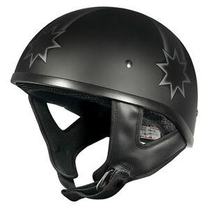 M Medium Rebel Ned Kelly Eureka Flag Open Face Matt Black Motorbike Helmet