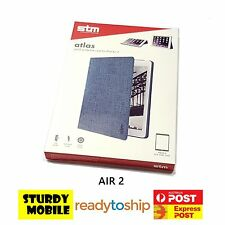 Genuine Original STM Atlas Folio Flip Stand Case Cover for iPad Air 2 Denim