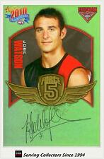 2010 Select AFL Champions Force 5 Signature Gold FFS23 Jobe Watson (Essendon)