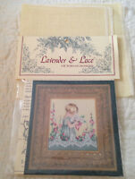 Lavender & Lace Emma's Garden Counted Cross Stitch  Pattern & Linen