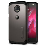 Motorola Moto Z2 Force Edition Spigen® [Tough Armor] Gunmetal Double Cover Case