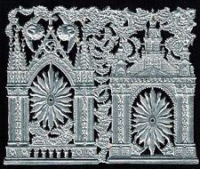 Ornate Silver Church Front Medallion Cherub Shrine Altar Ornament Dresden German