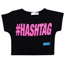 Girls' Logo Cropped T-Shirts, Top & Shirts (2-16 Years)