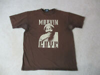 Marvin Gaye Concert Shirt Adult Large Brown Singer R&B Music Tour Mens *