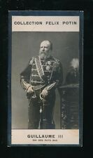 Netherland King Guillaume III Collection Felix Potin cigarette card 75x40mm
