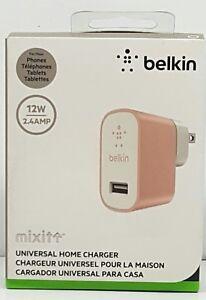 Belkin MIXIT Metallic Micro USB Home Wall Charger 2.4 Amp / 12 Watt, Rose Gold