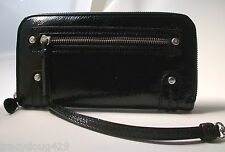 NWT Brighton Black Patent Leather Zip Wallet with detachable  Wristlet Strap