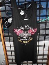 NOS Harley Davidson Ladies 1W Passion Drive Freedom Tank Shirt 96105-14VW/001W