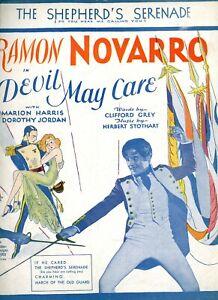 Vintage Feuille Musique Ramon Novarro Dorothy Jordan En Devil May Soin